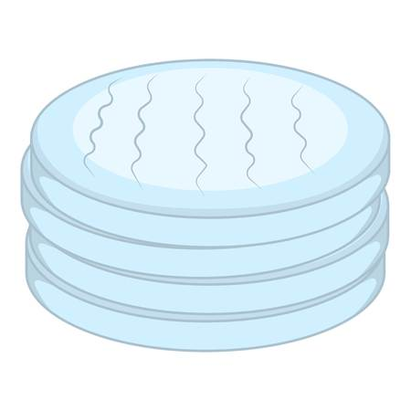 Cotton disc icon. Cartoon illustration of cotton disc icon for web design