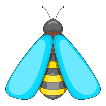 Bee icon. Cartoon illustration of bee icon for web design Stock Photo
