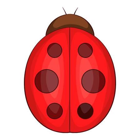Ladybug icon. Cartoon illustration of ladybug icon for web design