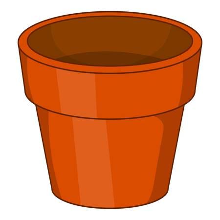 Flower pot icon. Cartoon illustration of flower pot icon for web design
