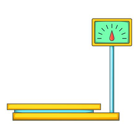 Electronic market scale icon. Cartoon illustration of market scale icon for web design