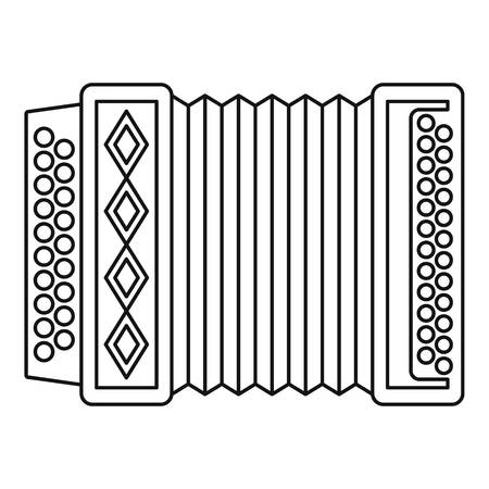 Accordion icon. Outline illustration of accordion icon for web