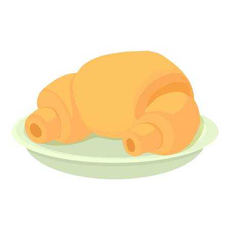 Croissant icon. Cartoon illustration of croissant icon for web Stock Photo