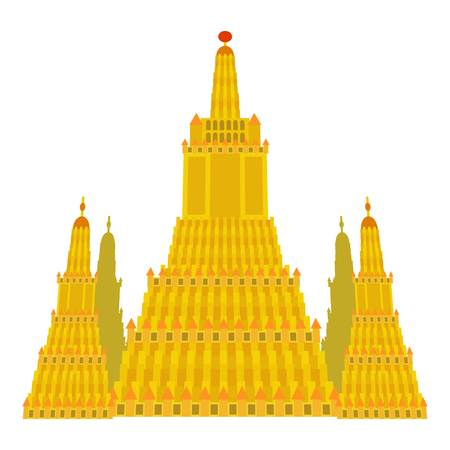 Virupaksha temple icon. Cartoon illustration of Virupaksha temple icon for web