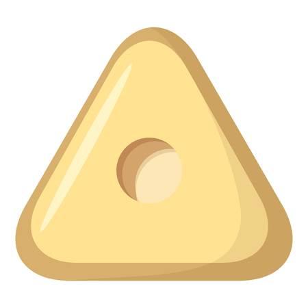 Square button icon, cartoon style Stockfoto
