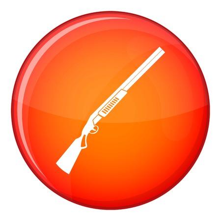 Gun icon, flat style Stock Photo