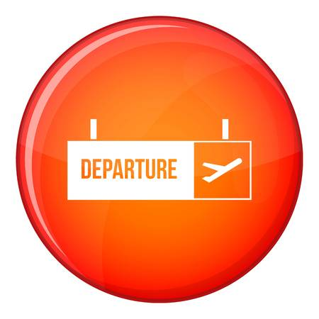 Airport departure sign icon, flat style Stock fotó
