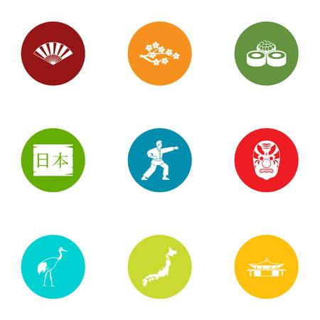 Body energy icons set. Flat set of 9 body energy vector icons for web isolated on white background Illustration