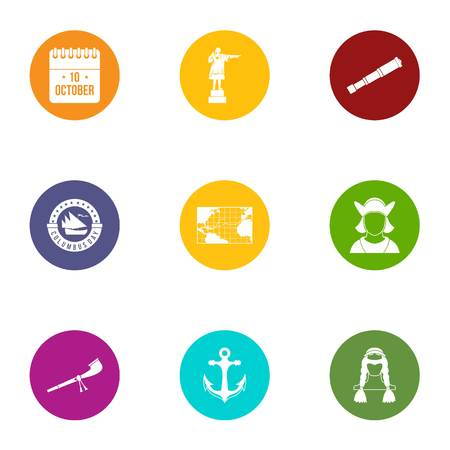 Liberation icons set. Flat set of 9 liberation vector icons for web isolated on white background