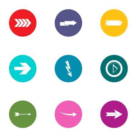 Translation of shooter icons set. Flat set of 9 translation of shooter vector icons for web isolated on white background