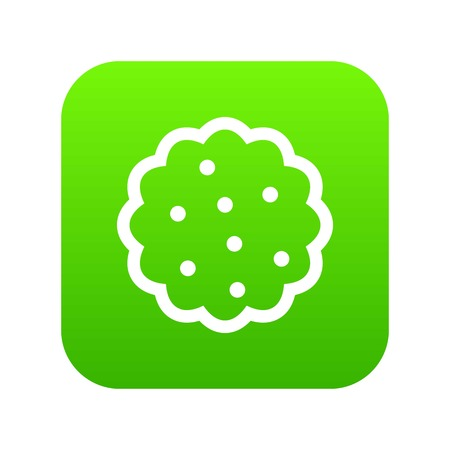 Cookies icon digital green for any design isolated on white vector illustration