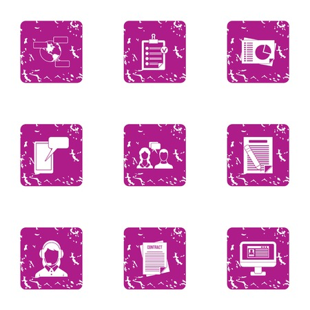 Escort icons set. Grunge set of 9 escort vector icons for web isolated on white background