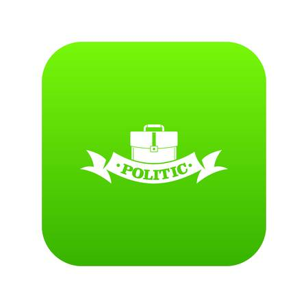 Politic icon green vector isolated on white background Illustration