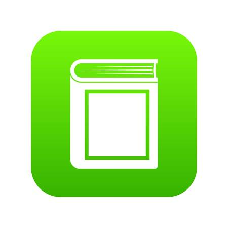Thick book icon digital green for any design isolated on white vector illustration Illustration