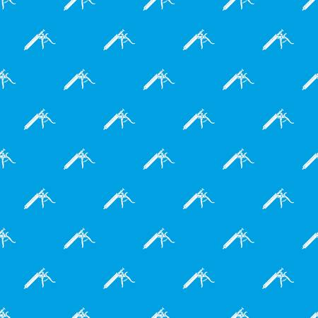 Empty syringe pattern vector seamless blue repeat for any use