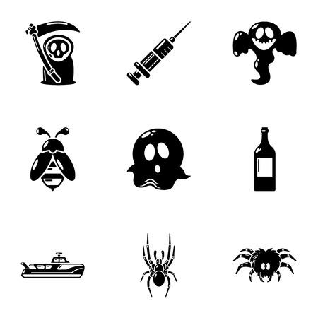 Spectre icons set. Simple set of 9 spectre vector icons for web isolated on white background
