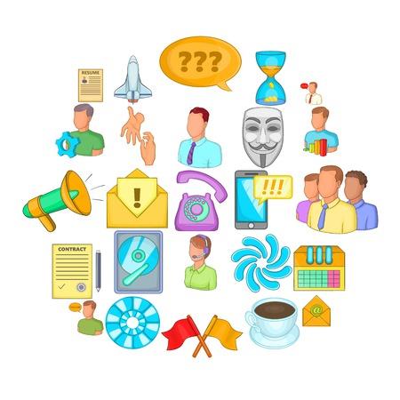 Business direction icons set. Cartoon set of 25 business direction vector icons for web isolated on white background