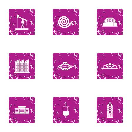 Rescue assistance icons set. Grunge set of 9 rescue assistance vector icons for web isolated on white background