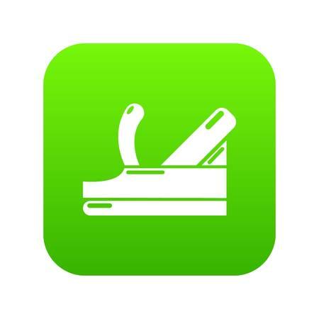 Plane icon green vector