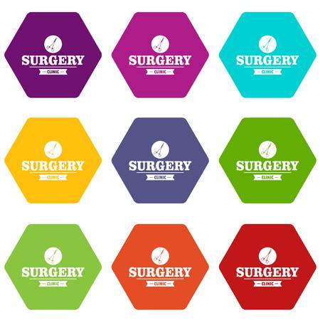 Surgery clinic icons set 9 vector