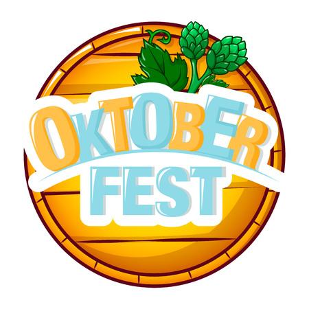 Oktoberfest wood barrel icon. Cartoon of oktoberfest wood barrel vector icon for web design isolated on white background