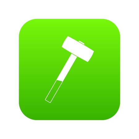Sledgehammer icon digital green for any design isolated on white illustration Stock Photo