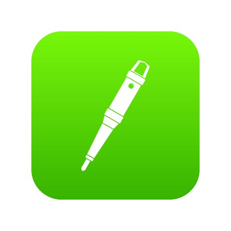 Grip of tattoo machine icon digital green for any design isolated on white illustration 版權商用圖片