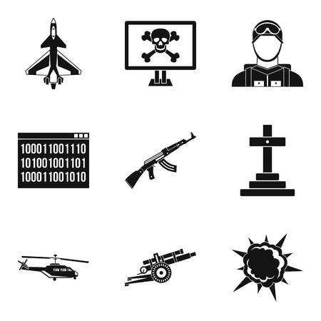 Riot icons set. Simple set of 9 riot icons for web isolated on white background