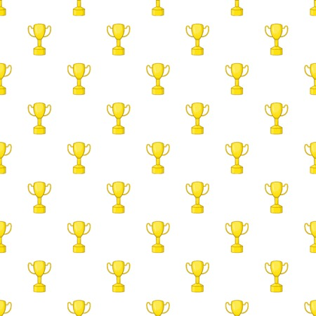 Gold cup pattern. Cartoon illustration of gold cup pattern for web Stock Photo