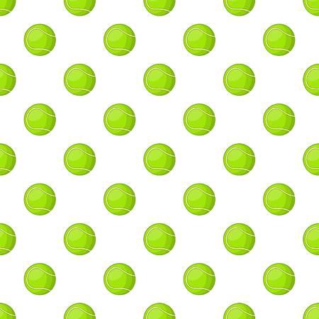 Tennis ball pattern. Cartoon illustration of tennis ball pattern for web