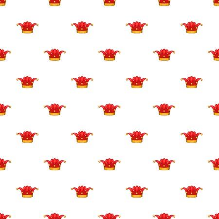 Clown hat pattern. Cartoon illustration of clown hat pattern for web Stock  Illustration - 107483972 ec5333ab686