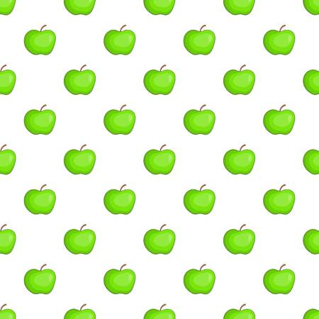 Apple pattern. Cartoon illustration of apple pattern for web