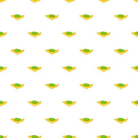 Marijuana on a paper pattern. Cartoon illustration of marijuana on a paper pattern for web Stock Photo