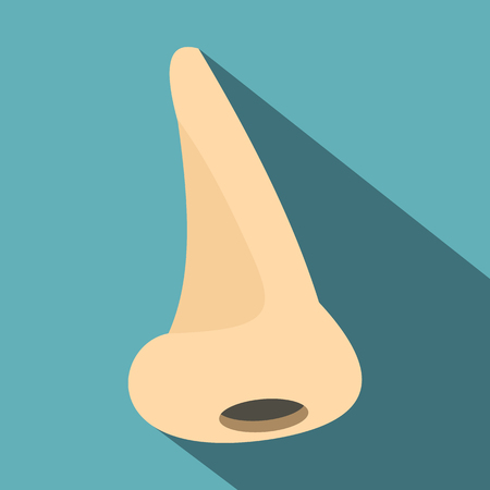 Human nose icon. Flat illustration of human nose icon for web