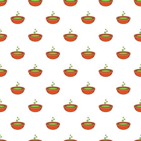 Bowl with green potion pattern. Cartoon illustration of bowl with green potion pattern for web