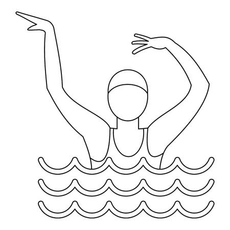 Dancing figure icon. Outline illustration of dancing figure icon for web Stockfoto