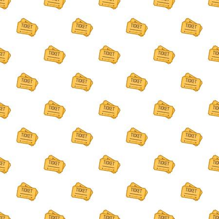 Ticket pattern. Cartoon illustration of ticket pattern for web Stock Photo