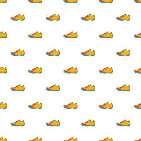 Sneakers for tennis pattern. Cartoon illustration of sneakers for tennis pattern for web