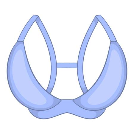 White bra icon. Cartoon illustration of white bra icon for web