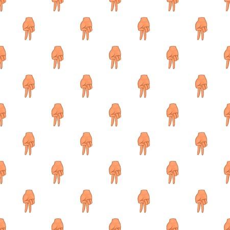 Two fingers down gesture pattern. Cartoon illustration of two fingers down gesture pattern for web