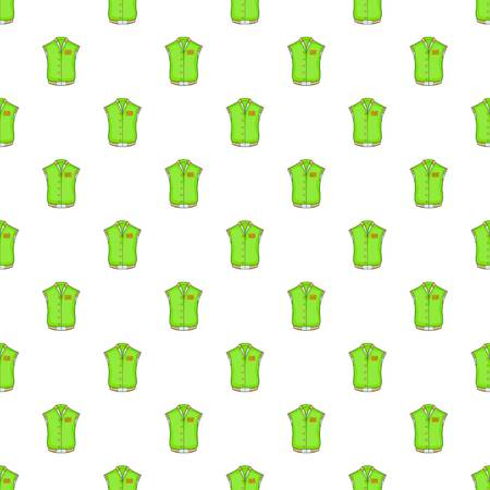Green baseball jacket pattern. Cartoon illustration of green baseball jacket pattern for web Stock Photo