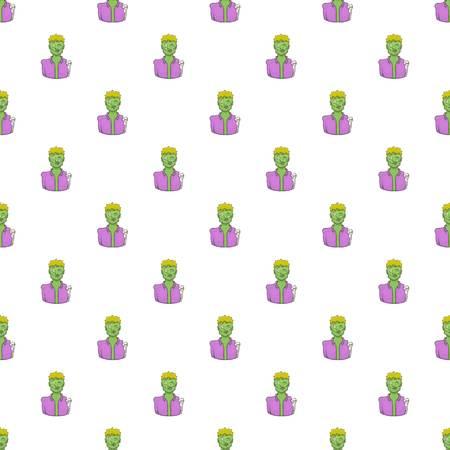 Zombie pattern. Cartoon illustration of zombie pattern for web Stock Photo