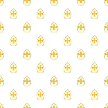 Christian hat pattern. Cartoon illustration of christian hat pattern for web