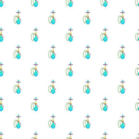 Hookah pattern. Cartoon illustration of hookah pattern for web Imagens