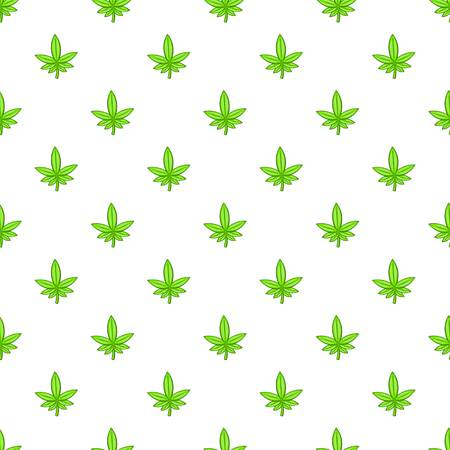 Marijuana leaf pattern. Cartoon illustration of marijuana leaf pattern for web Stock Photo