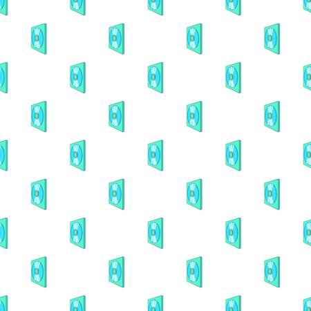 CD box pattern. Cartoon illustration of CD box pattern for web