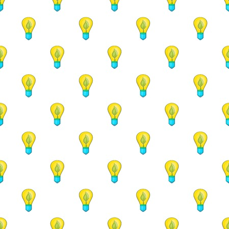 Light bulb with sprout pattern. Cartoon illustration of light bulb with sprout pattern for web