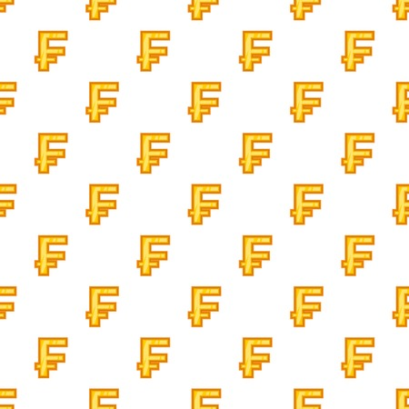 Swiss franc currency symbol pattern. Cartoon illustration of swiss franc currency symbol pattern for web Stock Photo