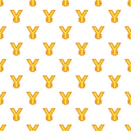 Japan yen sign pattern. Cartoon illustration of yen currency symbol pattern for web