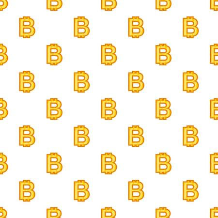 Bitcoin currency symbol pattern. Cartoon illustration of bitcoin currency symbol pattern for web